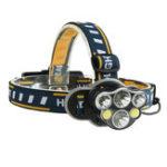 Оригинал XANES2606-62300LM2*T6 + 2 * XPE + 2 * COB Bike Bicycle Headlamp 8 режимов 2 * 18650 Батарея USB-интерфейс