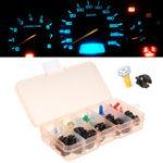 Оригинал 30Pcs Mix Color T5 LED Ширина панели приборной панели Лампы панели приборов для Авто мотоцикл