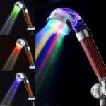 Оригинал Anion SPA Фильтрация душевой головки Ванная комната Рабочая температура распылителя Датчик LED Изменить
