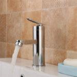 Оригинал Латунный хром-водопад Ванная комната Смеситель для раковины с одной ручкой Холодный и горячий смеситель