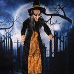 Оригинал HalloweenWitchPropPartyBarKTV Голос Активированный Свет Свет Висячие украшения