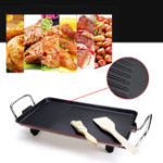 Оригинал Nonstick Kitchen Кемпинг Сад ​​Электрический Teppanyaki Барбекю Top Grill Pan Griddle BBQ Пластина
