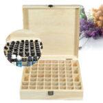 Оригинал 58 Слоты Essential Масло Хранение Коробка Деревянные Чехол Контейнерная ароматерапия Органайзер Дисплей Коробка