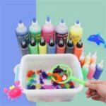 Оригинал 10PCS 60ML Ecai Натрий Альгинат Поглощение воды и Swell Toy Slime Clay With Mold Коробка Упаковка