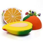 Оригинал  Лимонный манго Squishy 19 * 5CM Soft Медленный рост с коллекцией подарков для подарков