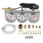 Оригинал 2 дюймов 52 мм Масло Датчик давления воды для измерения температуры Тройной калибр 3 в 1 Установите панель Chrome