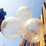 Оригинал 3pcs / Lot Clear Confetti Воздушный шар С Днем Рождения Свадебное Украшения партии