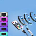 Оригинал 1M USB Power RGB 5050 SMD 30LED Strip LCD Монитор Задний фонарь для ТВ + 17Key RF Remoter Набор DC5V