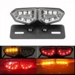 Оригинал 12V мотоцикл 18 LED Tail Brake Light Turn Signal License Пластина Лампа Очистить Объектив