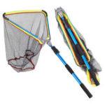 Оригинал LEO50x50x60cmАлюминиевыйсплавСкладнойлетающий треугольник Brail Рыбалка Чистая телескопическая портативная ловушка для рыбы