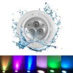 Оригинал 6W AC12V 3 LED Врезное плавание Бассейн Light Spa RGB White Fountain Night Лампа