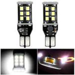Оригинал 2Pcs Audew T15 906 W16W Авто LED Резервные лампы обратного света без ошибок 7.2W 1200LM 6000K