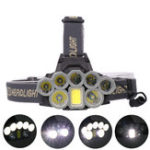 Оригинал XANES41083000LM2*T6 5 * XPE LED + COB 6 режимов Велосипед Кемпинг Фара 2 * 18650 Батарея USB аккумуляторная