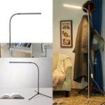 Оригинал Современный 8W Белый и теплый белый LED Этаж Лампа Диммер USB Настольный светильник для украшения спальни