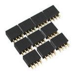 Оригинал 100шт 2.54мм 2x4P 8P Двойная прямая прямая штифта для иглы Разъем Pin Strip