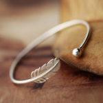 Оригинал Элегантный браслет из браслета из стерлингового серебра 925 с открытым браслетом