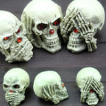 Оригинал 3PCS Halloween Party Resin Skeleton Ghost Decoration Toys Настольный декор