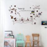 Оригинал МультфильмстолафоторамкиДетистикерстены спальни медведь и звезды DIY Цитата Happy Life Art Decal