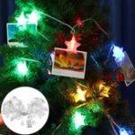 Оригинал 10M 8 Режимы 38 LED Звездный клип Висячий Peg Fairy String Light для Свадебное DIY Ins Decor AC220V