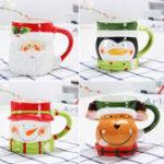 Оригинал 3DРождественскаякружкаКерамическийКофейныекружки Лось Санта-Клаус Пингвин Снеговик Подарки Кружка