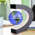 Оригинал C Форма LED Украшение карты мира Магнитная левитация Плавающий глобус