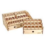 Оригинал Wooden Pigment Bottle Storage Organizer 15/80 Holes Color Paint Ink Brush Stand Rack Modular Holder