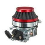 Оригинал Красный 2 Инсульт Карбюратор с фильтром для 49cc 66cc 60cc 80cc мотоцикл Детали для гонок
