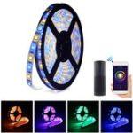 Оригинал ARILUX® 2M 12W SMD5050 2835 RGB CCT LED Strip Light Набор + WIFI-контроллер работает с Alexa EU Plug