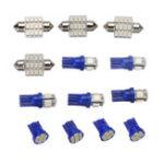 Оригинал  13PCS T10 Авто LED Лицензия Пластина Внутренняя дверца лампы Dome Лампа Blue