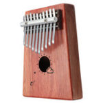 Оригинал 10 ключей Kalimba African Solid Mahogany Wood Thumb Фортепиано Перкуссия для подарков