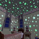 Оригинал 100pcs3Dзвездысветятвтемноте светящиеся ленты флуоресцентные пластиковые наклейки стены наклейки стены украшения