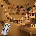 Оригинал 3M Батарея Работает на 8 режимах Дистанционное Управление 20 LED Фотокниги Свет в виде строки Рождество Свадебное Декор