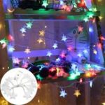 Оригинал 1.2M Батарея Powered Colorful 10 LED Звездный клип Висячий Peg Fairy String Light Свадебное Decor
