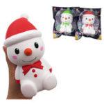 Оригинал Squishyfun Christmas Snowman Squishy 15 * 7.5 * 7.5CM Лицензированный медленный рост с упаковкой