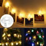 Оригинал 3M 20 LED Star Photp Clip Fairy String Light Party Christmas Свадебное На открытом воздухе Домашний декор Лампа