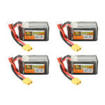 Оригинал 4Pcs ZOP Power 14.8V 1800mAh 65C 4S Lipo Батарея XT60 Plug для PFV Racing Дрон