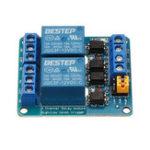 Оригинал BESTEP 2-канальный 12-ваттный релейный модуль с высоким и низким уровнем триггера для Auduino