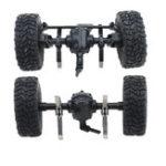 Оригинал JJRC Q61 4WD Передний и задний мост для 1/16 Военный Грузовик Rc Авто Blue Wheel