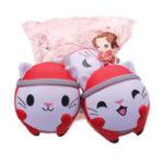 Оригинал Cooland Christmas Кот Squishy 12 * 10CM Soft Медленное восхождение с коллекцией подарков для подарков