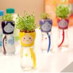 Оригинал Сад Домашний офис Декор Cute Emoji Кукла Самолёт соломы полива Цветочный горшок
