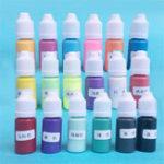 Оригинал Твердый цвет пигмента 18 цветов UV Смола Кристалл Клей красителя Красители DIY Art Craft Making
