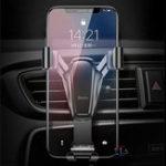 Оригинал BenksGravityLinkageAutoЗамокАвто Держатель воздухозаборника для iPhone Xiaomi Mobile Phone