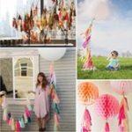Оригинал 14 дюймов Tissue Paper Tassel Garland Дни рождения Party Decorations Event Gift Pack Воздушный шар Accessoriess