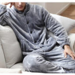 Оригинал ChArmkpRМужскиезимниетолстыетеплыедома фланелевые пижамы набор