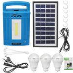 Оригинал Солнечная Освещение Питание генератора Хранение USB Зарядка Лампа Радио/Bluetooth / MP3