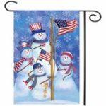 """Оригинал 12.5 """"x 18"""" Рождественские снеговики Winter Welcome House Сад Флаг-ярды Баннерные украшения"""
