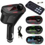 Оригинал Беспроводной FM-передатчик Радио Авто MP3-плеер LCD Модулятор USB Дистанционный Зарядное устройство