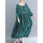 Оригинал Женское С длинным рукавом, сшитая свободная чехол Платье