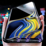 Оригинал BakeeyМагнитнаяадсорбцияалюминиязакаленноестекло защитное Чехол для Samsung Галактика Примечание 9