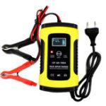 Оригинал FOXSUR 12V 5A Импульсный ремонт LCD Батарея Зарядное устройство для Авто мотоцикл Agm Гель Влажная свинцовая кислота Батарея